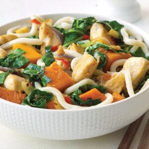 Chicken and pumpkin stir-fry