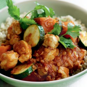 Chicken, lentil and kumara curry