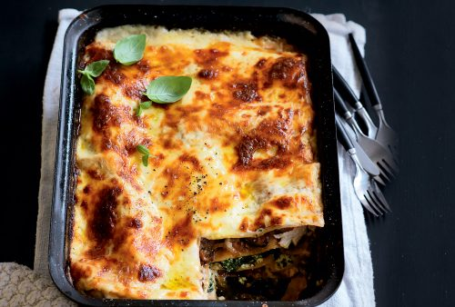 Chicken, pumpkin and ricotta lasagne