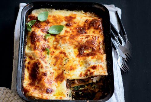 Chicken, pumpkin and ricotta lasagne