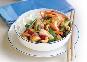 Chicken with cashew nuts and vegetables