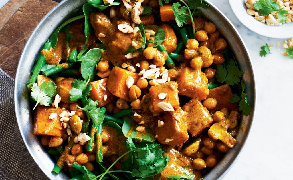 Chickpea, pumpkin and cashew korma curry