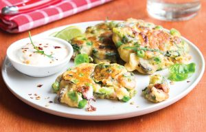 Chilli and mixed seafood fritters