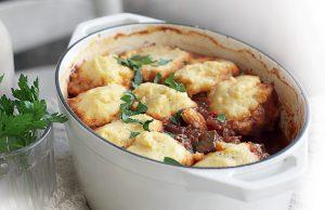 Chilli beef stew with polenta dumplings