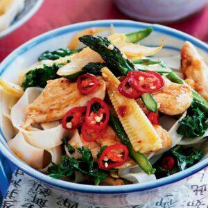 Chilli chicken noodles