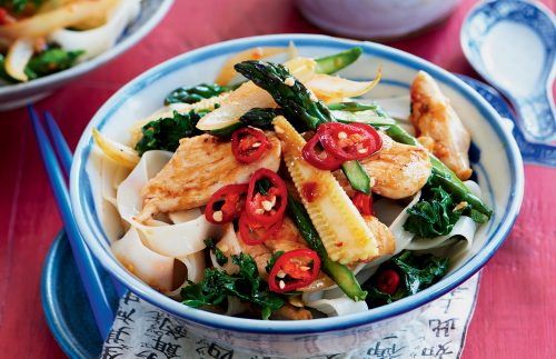 Chilli chicken noodles