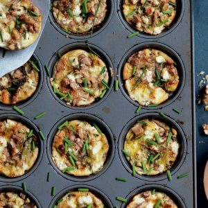 Courgette and goat's cheese mini frittatas