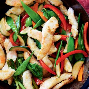 Fish and vege stir-fry