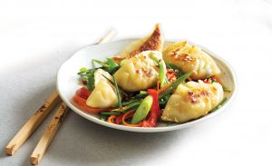 Freezer-friendly vegetarian potsticker dumplings