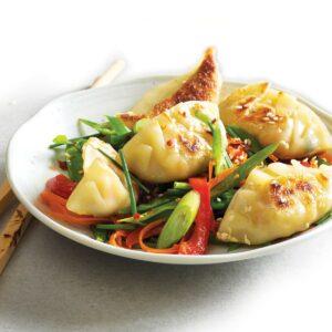 Freezer-friendly vegetarian potsticker dumplings