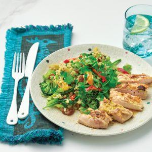 Weeknight meal plan: Mustard chicken, pork skewers, noodle salad, ginger beef