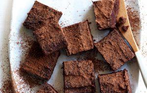 Fudgy kumara chocolate brownies