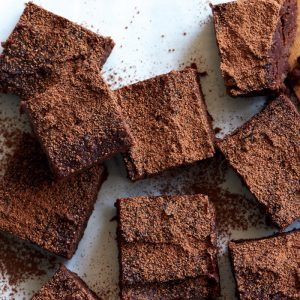 Fudgy kumara chocolate brownies