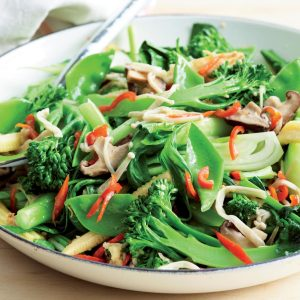 Garlic-ginger vege stir-fry