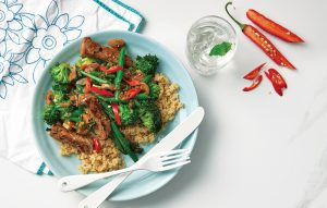Ginger chilli beef with broccoli