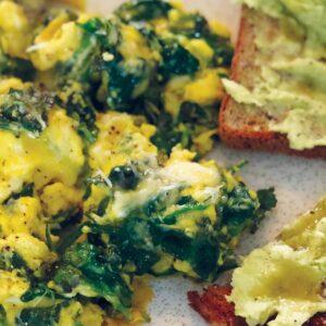 Green eggs with avocado
