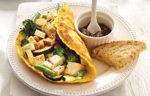Green vege omelette