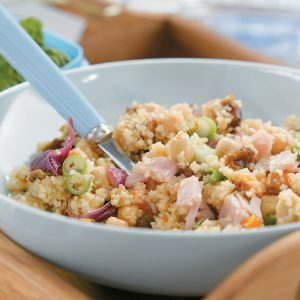 Ham and chargrilled vegetable couscous