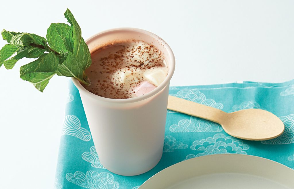 Hot peppermint chocolate