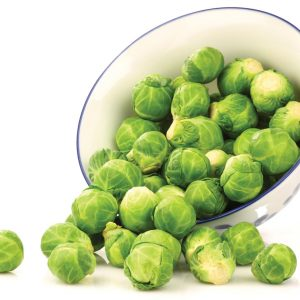 In season early winter: Brussels sprouts