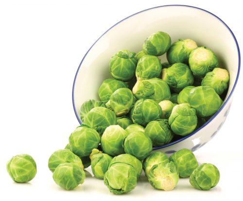 In season early winter: Brussels sprouts