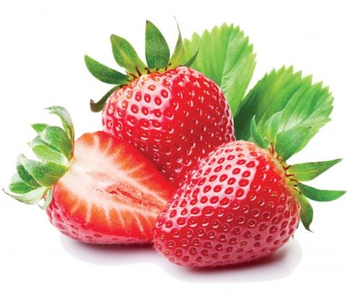 In season March: Strawberries, parsley, courgettes