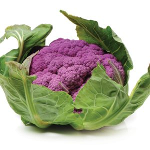In season early winter: Yuzu and purple cauliflower