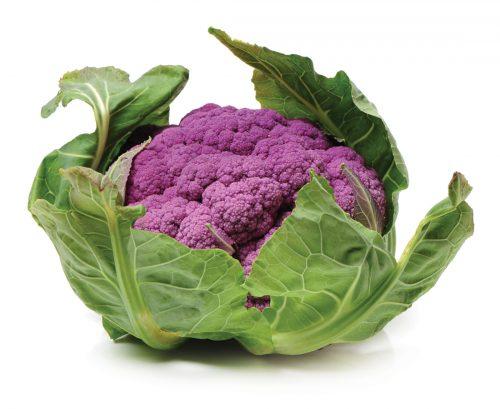 In season early winter: Yuzu and purple cauliflower