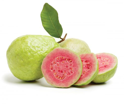 In season late spring: Tropical guavas, mizuna