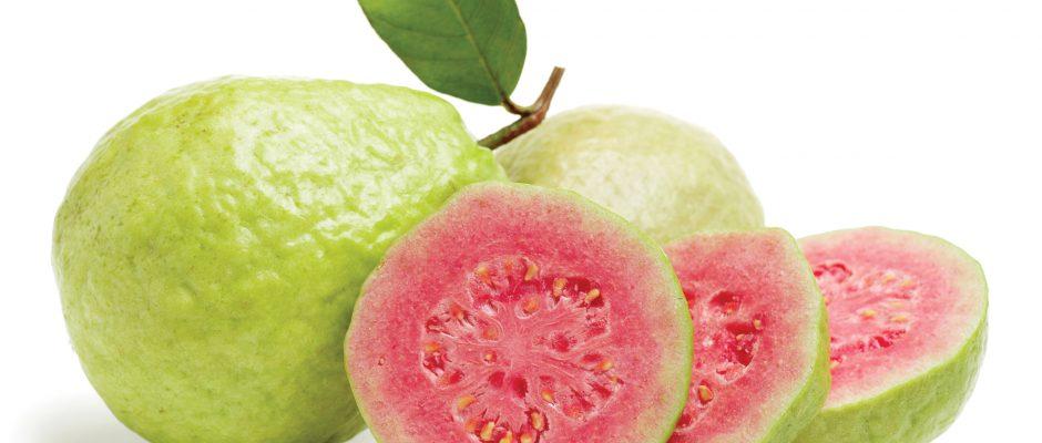 In season late spring: Tropical guavas, mizuna