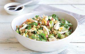 Israeli couscous chicken salad
