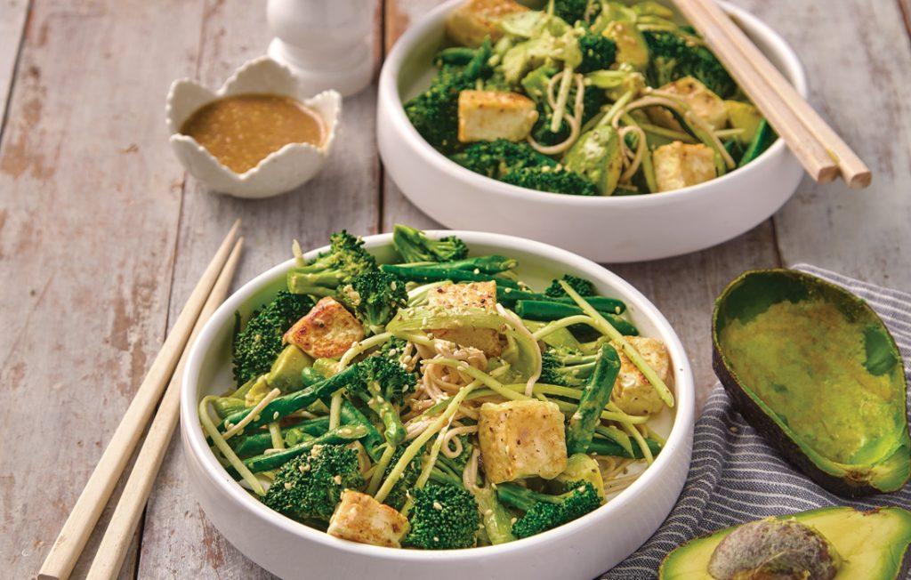 Japanese avocado and tofu salad