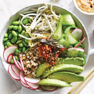 Kimchi buckwheat bowl