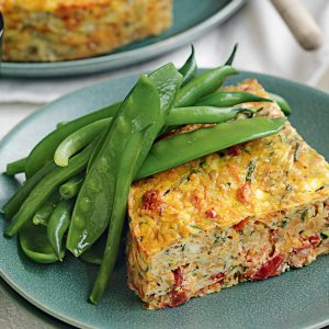 Kumara, courgette and herb frittata