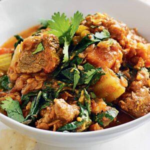 Lamb, lentil and kumara curry