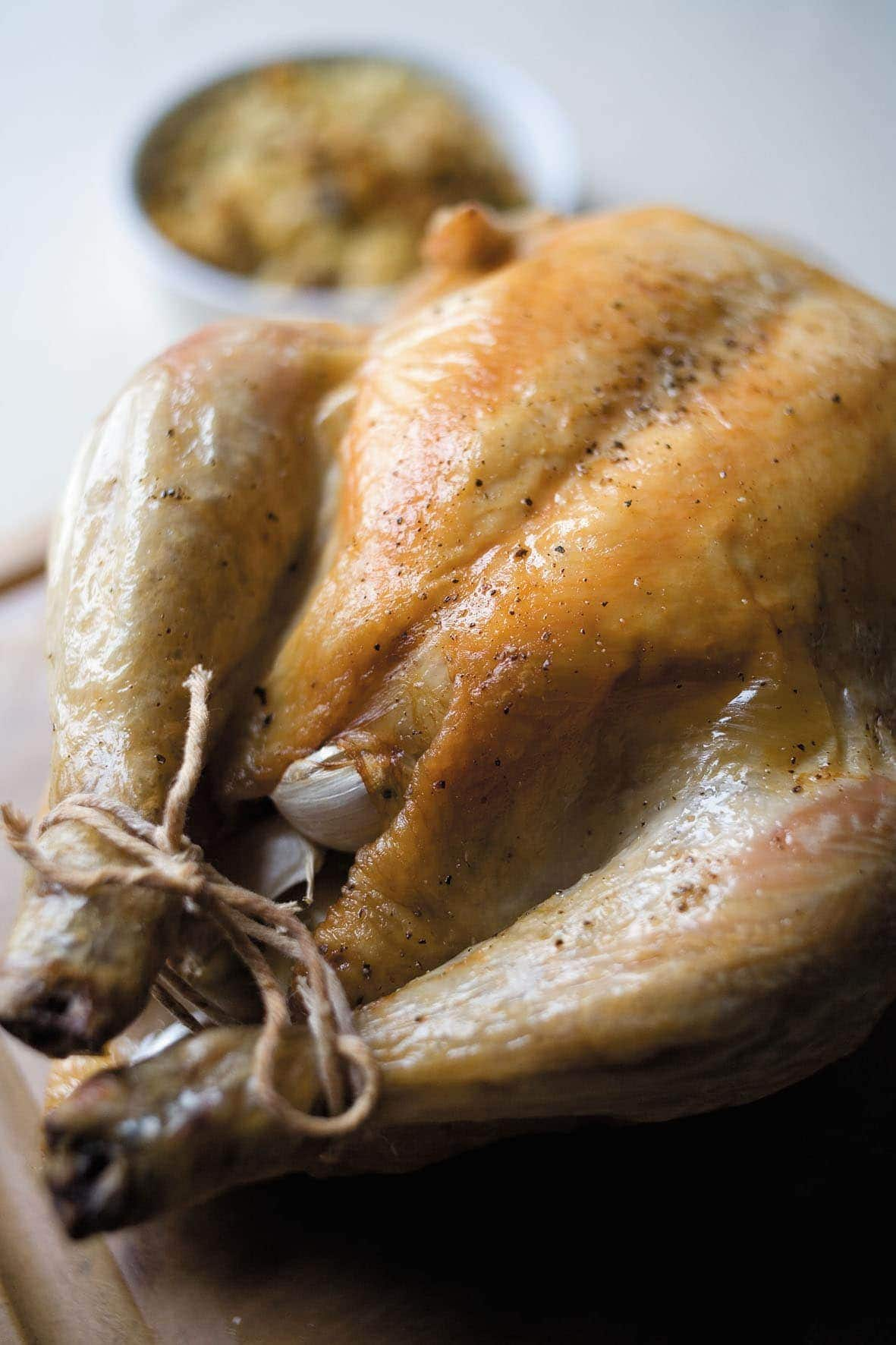 Lemon and garlic roasted chicken