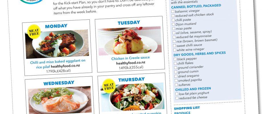 Kick-start meal plan: Serves 1 & 2
