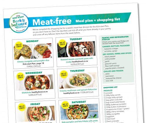 Kick-start meal plan: Vegetarian