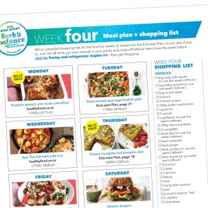 Kick-start meal plan: Week four