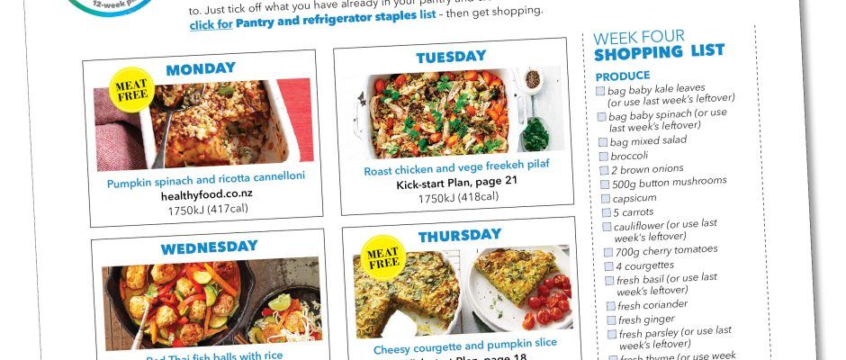 Kick-start meal plan: Week four