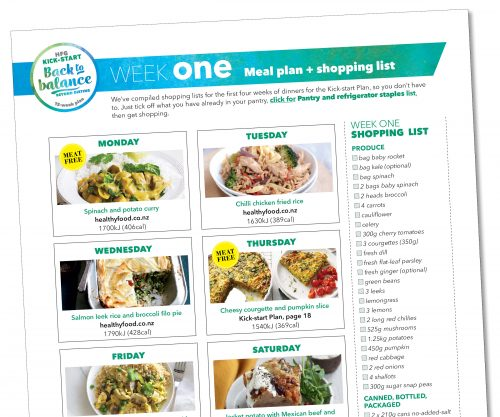 kick start meal plan week one healthy food guide