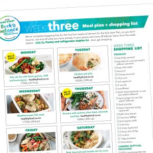 Kick-start meal plan: Week three