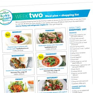 Kick-start meal plan: Week two