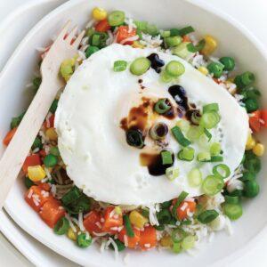 Microwave 'fried rice'
