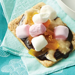 Microwave tutti fruity s'mores