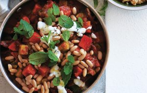 Middle Eastern bean and kumara stew