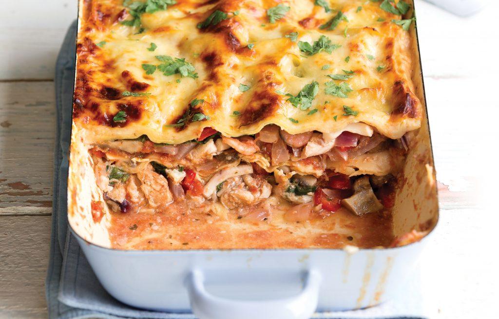 Mixed fish lasagne