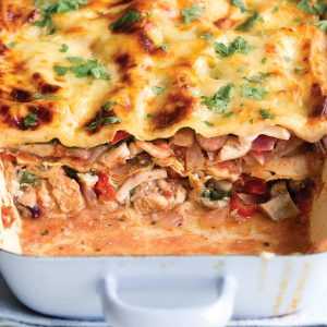 Mixed fish lasagne