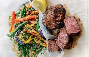 Moroccan-style beef fillet with couscous
