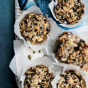 Mushroom and parmesan quinoa muffins